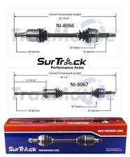 Pair of Front CV Axle Shafts SurTrack Set for Mercury Villager Nissan Quest FWD