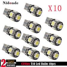 10x CANbus 25W White T10 LED Bulbs Error Free Car Side Backup Reverse Light 6k