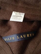 RALPH LAUREN R ROYALE CHANNEL STITCH WOOL BLANKET BN