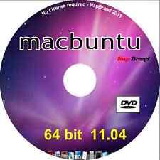 macbuntu 11.04 OS X look-a-like o/s 64 bit Live Linux DVD run in memory/install