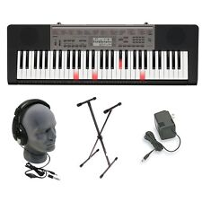 Music Piano Keyboard Synthesizer W/phones AC DC Stand Workstation Portable 61key