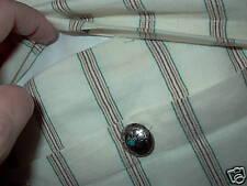 New Ralph Lauren Black Label Pair Blue Water Linen Throw Pillows Concho Buttons