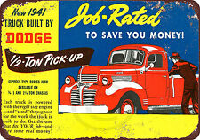 1941 Dodge Half Ton Pickup Truck Reproduction Metal Sign 8 x 12