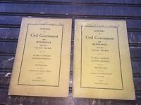 Vintage Minnesota Civil Government Book LOT from 1933