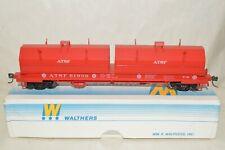 HO scale Walthers ATSF Santa Fe Ry steel cushion coil flat car train