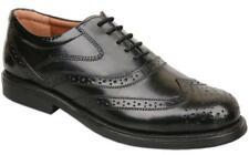 Mens UK Size 8 Black Leather Lace Up Formal Brogues Shoes