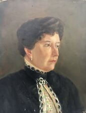 Donna Portrait-LADY-Old Oil Painting around 1900 Nouveau