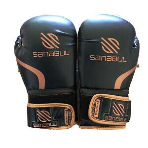 Sanabul Essential GEL Kickboxing Boxing Gloves Gold/Black/White 8 oz