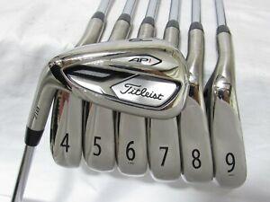 Used LH Titleist AP1 718 Iron Set 4-P Regular Flex Steel Shafts