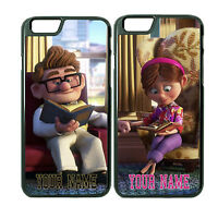 Carl and Ellie Romantic Couple Phone Case Cover For iPhone 6Plus 6 5 5s w/ Name