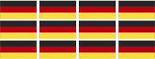 """12 Germany Flag Decal 2""""x1.2"""" German Deutsch Vinyl Hard Hat Helmet Sticker"""