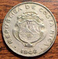 1948 Republic of Costa Rica 25 Centimos National Arms Coin