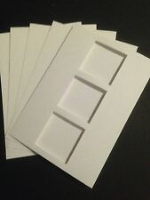5 Blank A6 White 3 Square Window Cards and C6 Envelopes - All Occasions
