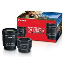 Canon Portrait Travel 2 Lens Kit w/EF 50mm f/1.8 STM EF-S 10-18mm f/4.5-5.6