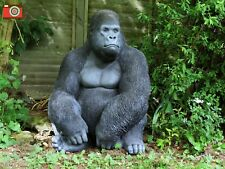 A LARGE INCREDIBLY LIFE LIKE GORILLA FOR HOME AND GARDEN, ULTRA REALISTIC