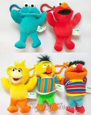 "Sesame Street Plush Doll Figure Clips Cookie Monster Elmo Big Bird Bert Ernie 5"""