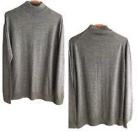 Men's Lafayette Homme Gray Wool Blend Turtleneck Sweater Size L