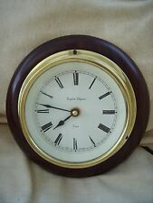 English Elegance, Essex station, classic wall clock in mahogany wood and brass