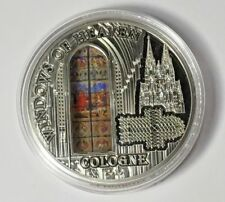 2010 Cook Islands Windows Heaven Cologne Cathedral Proof Silver Stained Glass