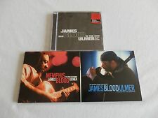 """James """"Blood"""" Ulmer - 3 Studio Sessions CDs, 1 New, OOP, Electric Blues/Jazz"""