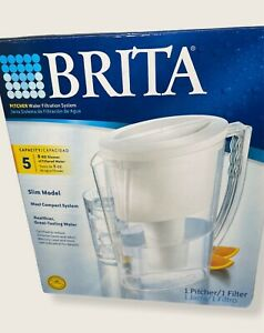 Brita Pitcher Water Filtration System, 5 Cup, Slim Model, Filter Included