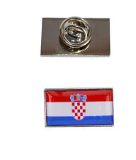 with free organza pouch Croatia Flag Tie Pin