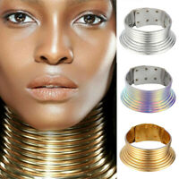 African Metallic Collar Adjustable Choker Hot Coil Maxi Jewelry Vintage Necklace