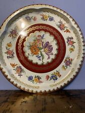"""Vintage Daher Decorated Ware -Floral Pattern Tin Tray 12 1/2"""" - Made In England"""