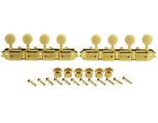 Kluson Supreme A Type Gold Mandolin tuners, 18:1 Ratio, Bone Buttons