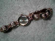 Women's Milan Genuine Diamond Quartz Gold Tone Dress Watch Working New Battery