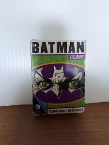 DC Comics Batman Villains 52 Playing Cards Used