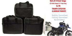 PANNIER LINER BAGS & TOP BOX BAG TO FIT TRIUMPH EXPEDITION ALUMINIUM PANNIERS