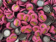 100 ((Pink Wild Kombucha)) beer bottle Caps NO DENTS. Free Shipping.