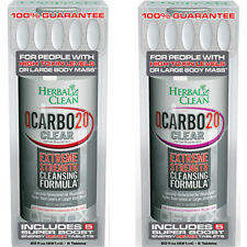 Herbal Clean Q Carbo Clear from BNG  20oz Cran-Raspberry + 20oz Strawberry-Mango