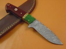 CUSTOM HAND MADE DAMASCUS STEEL HUNTING KNIFE CF-6143