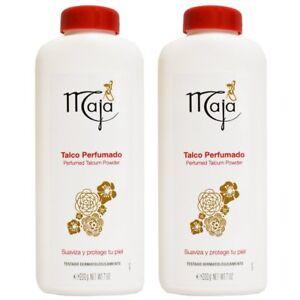 MAJA Perfumed Talcum Powder 7 oz / 200 g Talco Perfumado - 2 PACKS