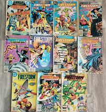 Vintage DC Comics The Fury of Firestorm lot of 11 total including Annual #1! Wow