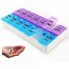 7 Day Pill Box Medicine Tablet Dispenser Organizer Weekly Storage Case AM PM