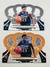 JARRETT CULVER ROOKIE LOT OF (2) 2019 PANINI CROWN ROYALE GOLD TIMBERWOLVES