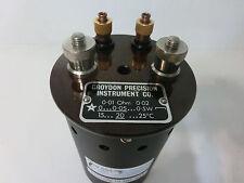 Lowered price, Croydon Precision Inst 0.01 Ohm, 10 milli-ohm Resistor Standard