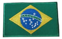 Brazil Brazilian National Country Flag Embroidered Hook Loop Patch