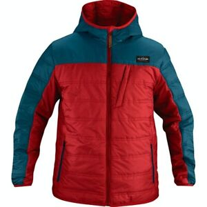 Dakine Mens Pulse Hooded Insulated Layering Snowboard Jacket Med Ink Chili Red