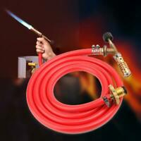 Mapp Gas Ignition Plumbing Turbo Torch With Hose Solder Propane Welding Kit