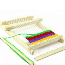 Traditional Wooden Weaving Loom Toy Craft Box Knitting Set Hooking Accessories