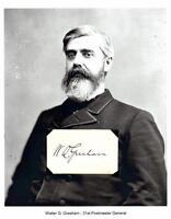 Walter Q Gresham Autograph Postmaster General Indiana Secretary State Court #2
