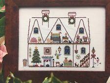 Brightneedle CHRISTMAS HOUSE sampler cross stitch pattern OOP
