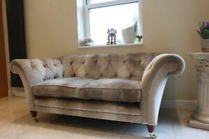 Laura Ashley chesterfield sofa in velvet