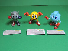 PAC-MAN & friends lot 3 figures poseable Bandai The ghostly Adventures Nintendo