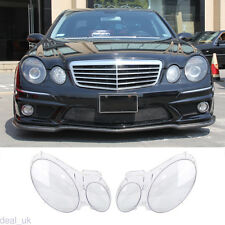 For Benz W211 E350/300/200 2002-2008 Headlight Lens Replacement Cover Left+Right
