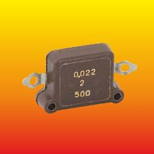 0.022 uF 500 V 2 % RUSSIAN MILITARY SILVER-MICA CAPACITOR KSO-8G КСО-8Г